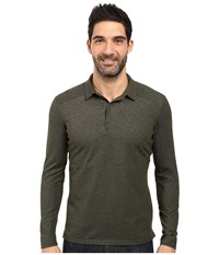Arc'teryx Captive Long Sleeve Polo Caper Men's Long Sleeve Pullover Green