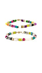 Joolz By Martha Calvo Sobe Bracelet Set In Pink. Multi