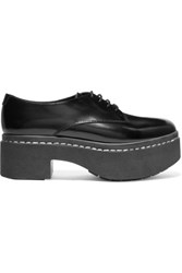 Opening Ceremony Patent Leather Platform Brogues Black