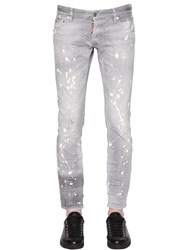 Dsquared 16.5Cm Clement Distressed Denim Jeans