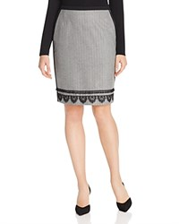 Max Mara Weekend Domizia Twill Herringbone Pencil Skirt Black