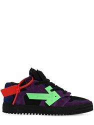 Off White Court Low Top Suede Sneakers Black