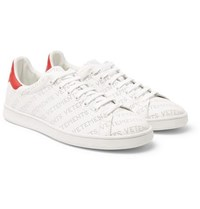 Vetements Perforated Logo Leather Sneakers White