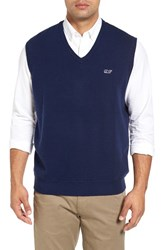 Vineyard Vines Men's Vintage Wind Merino Wool And Cotton Sweater Vest