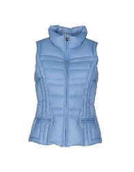 Trussardi Jeans Coats And Jackets Down Jackets Women Sky Blue