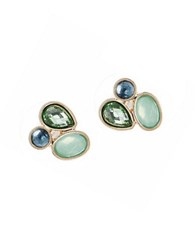 Lonna And Lilly Green Stone Cluster Earrings