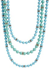 Women's St. John Collection Glass Pearl And Swarovski Crystal Necklace