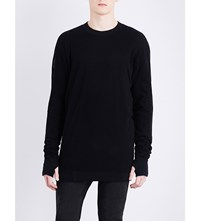 11 By Boris Bidjan Saberi Mesh Insert Cotton Jumper Black Dye