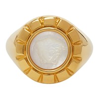 Versace Gold And White Palazzo Ring