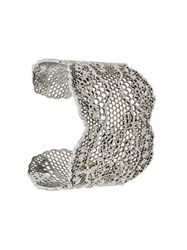 Aurelie Bidermann Cuff Bracelet Silver Plated Brass Metallic