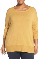 Eileen Fisher Plus Size Women's Scoop Neck Stretch Knit Top
