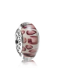Pandora Design Pandora Charm Murano Glass And Sterling Silver Snow Leopard Moments Collection Snow Leopard Silver