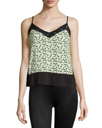 French Connection Desert Tropicana V Neck Tank Black Multi