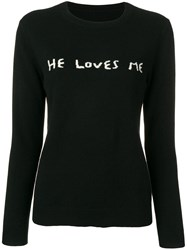 Chinti And Parker He Loves Me Jumper Black