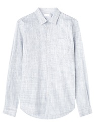 Jigsaw Ombre Check Shirt Pale Blue
