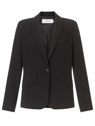 John Lewis Hepburn Button Crepe Jacket Black