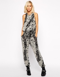 Religion Jumpsuit With All Over Dye Print Multi