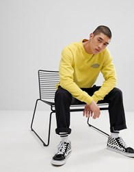 Dickies Briggsville Sweatshirt With Small Reflective Logo In Yellow