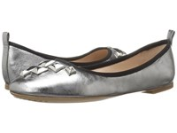 Marc Jacobs Cleo Studded Ballerina Dark Silver Leather