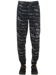 Emporio Armani Ventus 7 Cotton Blend Sweatpants Black Camo