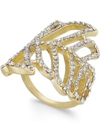 Inc International Concepts Gold Tone Pave Leaf Ring Only At Macy's