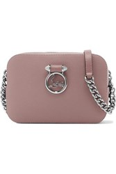 Christian Louboutin Rubylou Textured Leather Shoulder Bag Blush