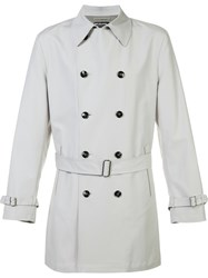 Kiton Short Trenchcoat Nude Neutrals
