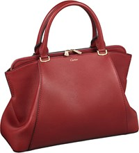 Cartier C De Leather Small Tote Red