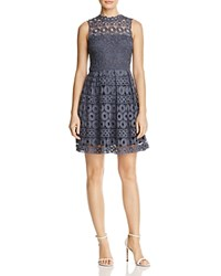 Aqua Lace Fit And Flare Dress 100 Exclusive Light Navy