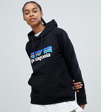 Patagonia Oversized P 6 Logo Uprisal Hoody In Black