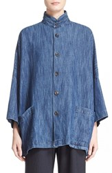 Women's Eskandar Cotton And Linen Denim Jacket