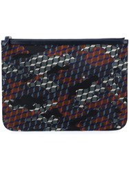 Pierre Hardy Camouflage Cube Design Clutch Black
