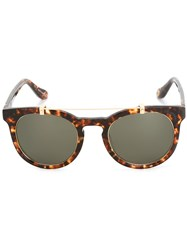 Vivienne Westwood Anglomania Round Frame Sunglasses Brown
