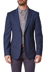 7 Diamonds Ancona Trim Fit Blazer Navy