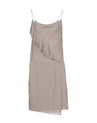Manila Grace Short Dresses Grey