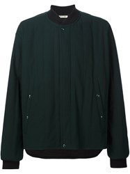 Marni Quilted Bomber Jacket Green
