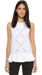 Thakoon Crochet Inset Tank Optic White