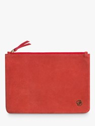 Gerard Darel Leather Pocket Pouch Bright Red