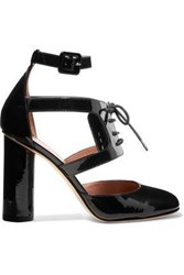 Red Valentino Cutout Patent Leather Pumps Black