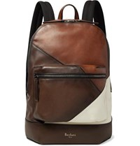 Berluti Volume Patchwork Leather Backpack Brown