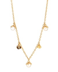 Nanis 18K Yellow Gold Dangle Bead Necklace W Smoky Quartz And Pearls