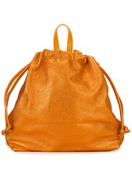 Danielle Foster Bella Ruck Sack Backpack Yellow And Orange