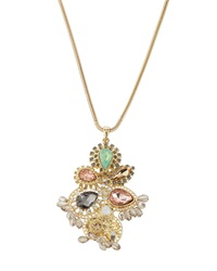 Fragments For Neiman Marcus Fragments Beaded Flower Pendant Necklace Multi