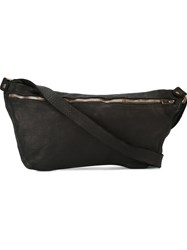 Guidi Zipped Shoulder Bag Horse Leather Black