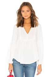 Amuse Society Stood Up Woven Top White