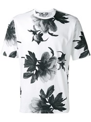 Paul And Joe Floral Print T Shirt White