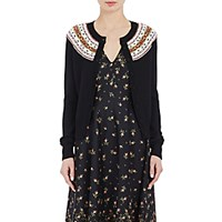 Philosophy Di Lorenzo Serafini Women's Fair Isle Cardigan Black Blue Black Blue