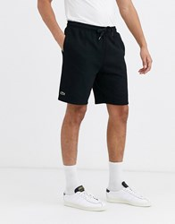 Lacoste Sport Basic Jersey Shorts In Black
