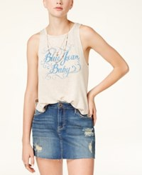 American Rag Juniors' Blue Jean Baby Graphic Tank Top Only At Macy's Oatmeal Combo