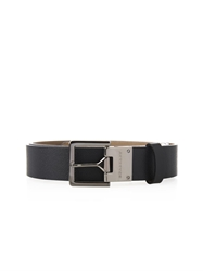 Burberry Military Buckle Leather Belt